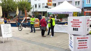 Initiative Grundeinkommen auf der Straße in Heilbronn